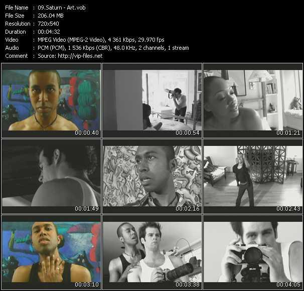 Screenshot of Music Video Saturn - Art