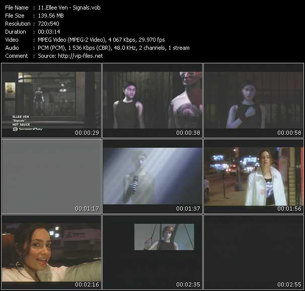 Screenshot of Music Video Ellee Ven - Signals