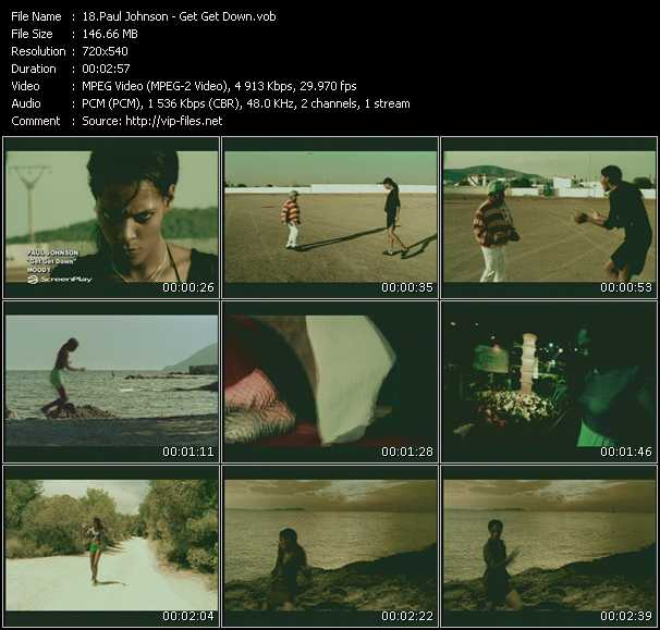 Screenshot of Music Video Paul Johnson - Get Get Down