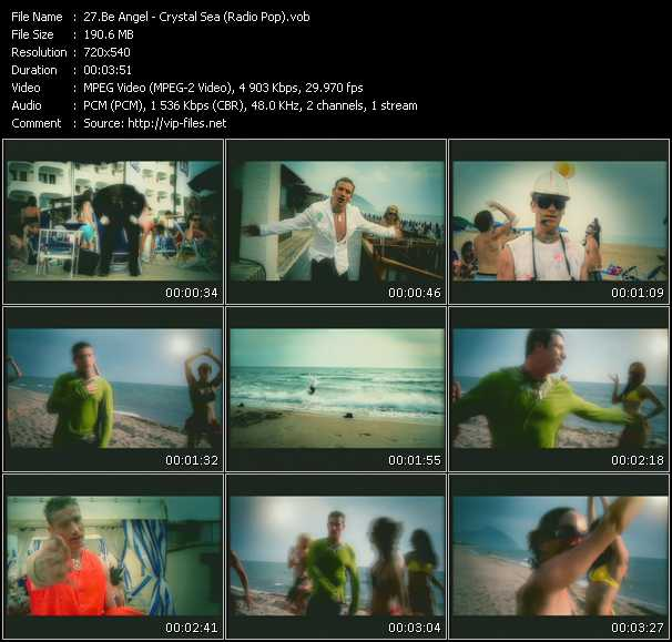 Screenshot of Music Video Be Angel - Crystal Sea (Radio Pop)