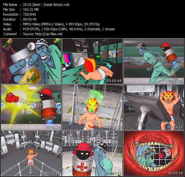 Screenshot of Music Video Dj Qbert - Sneak Attack