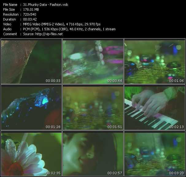 Screenshot of Music Video Phunky Data - Fashion