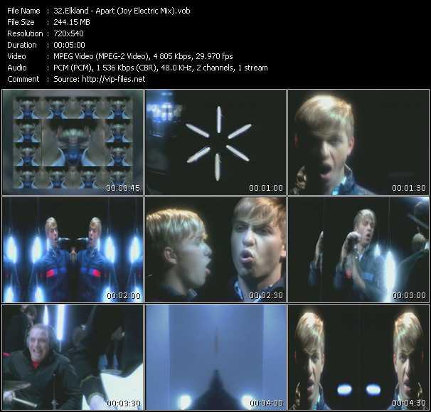 Screenshot of Music Video Elkland - Apart (Joy Electric Mix)