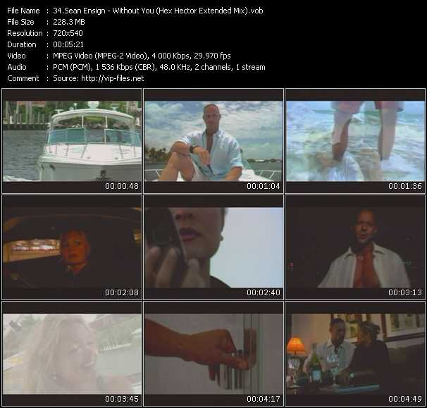 Screenshot of Music Video Sean Ensign - Without You (Hex Hector Extended Mix)