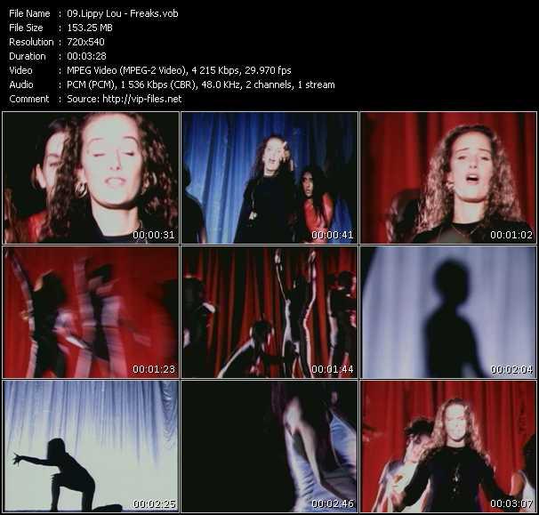 Screenshot of Music Video Lippy Lou - Freaks