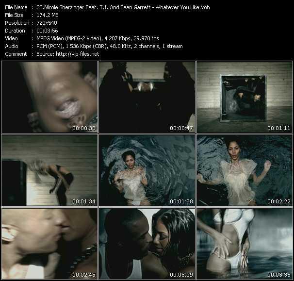 Nicole Scherzinger Feat. T.I. And Sean Garrett clips musicaux vob