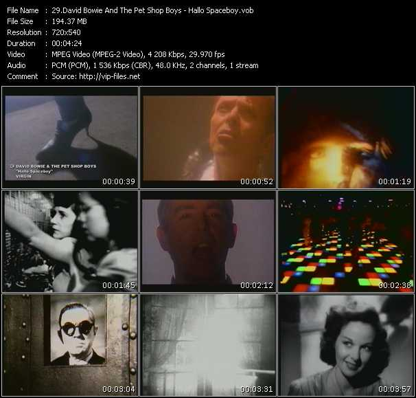 Screenshot of Music Video David Bowie And Pet Shop Boys - Hallo Spaceboy