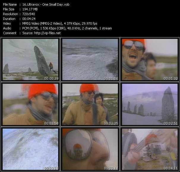 Screenshot of Music Video Ultravox - One Small Day