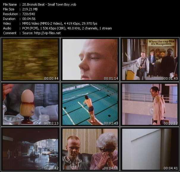 Screenshot of Music Video Bronski Beat - Small Town Boy