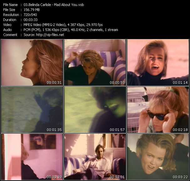 Screenshot of Music Video Belinda Carlisle - Mad About You