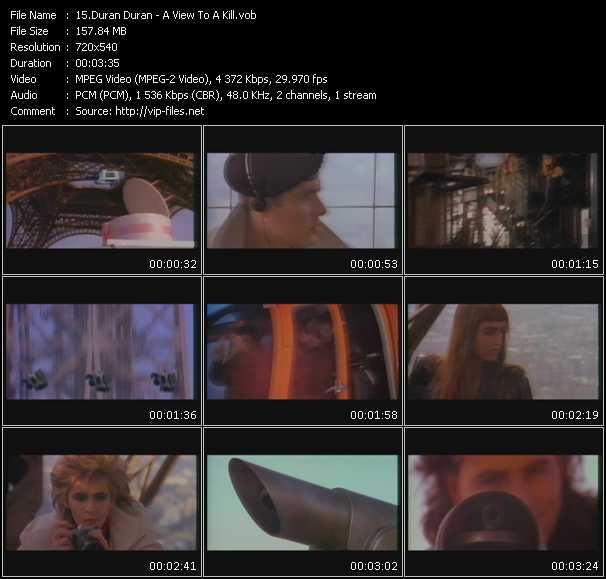 Screenshot of Music Video Duran Duran - A View To A Kill
