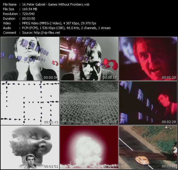 Screenshot of Music Video Peter Gabriel - Games Without Frontiers