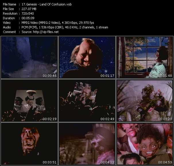 Screenshot of Music Video Genesis - Land Of Confusion