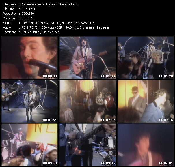 Screenshot of Music Video Pretenders - Middle Of The Road