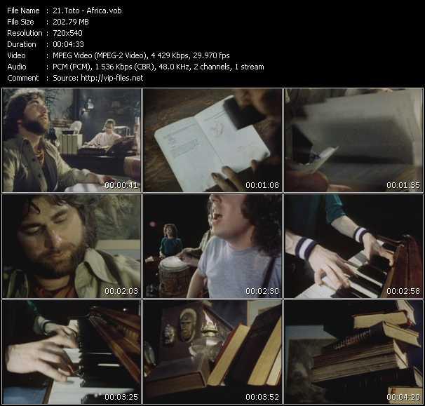 Screenshot of Music Video Toto - Africa