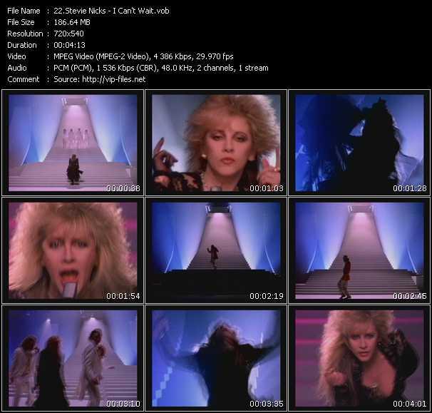 Screenshot of Music Video Stevie Nicks - I Can't Wait
