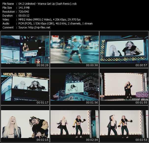 Screenshot of Music Video 2 Unlimited - Wanna Get Up (Sash Remix)