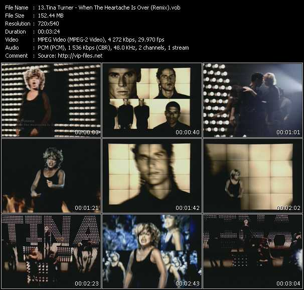 Screenshot of Music Video Tina Turner - When The Heartache Is Over (Remix)