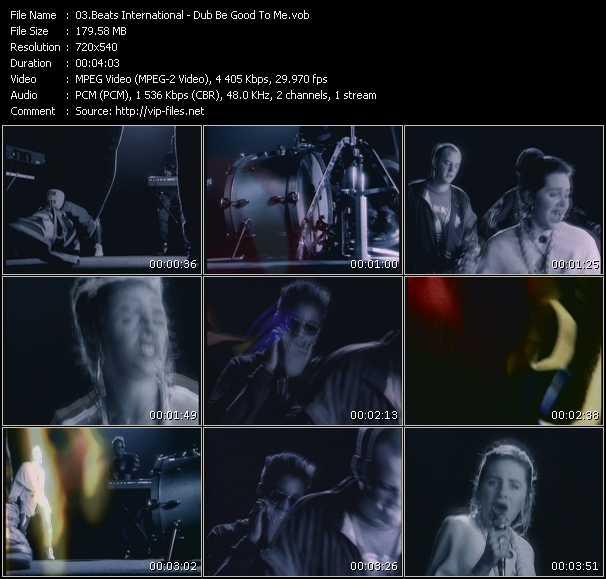 Screenshot of Music Video Beats International - Dub Be Good To Me