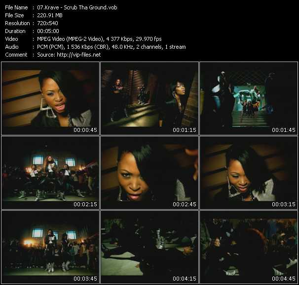 Screenshot of Music Video Krave - Scrub Tha Ground