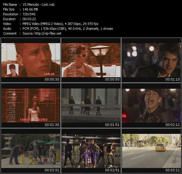 Screenshot of Music Video Menudo - Lost