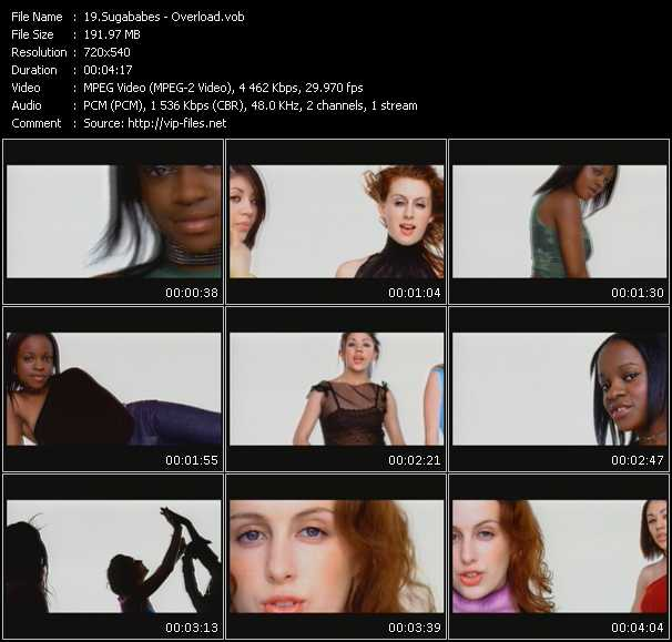Screenshot of Music Video Sugababes - Overload