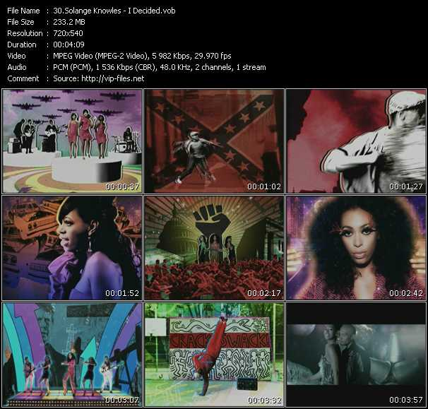 Solange Knowles video vob