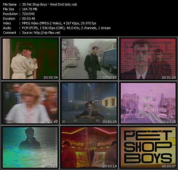 Screenshot of Music Video Pet Shop Boys - West End Girls