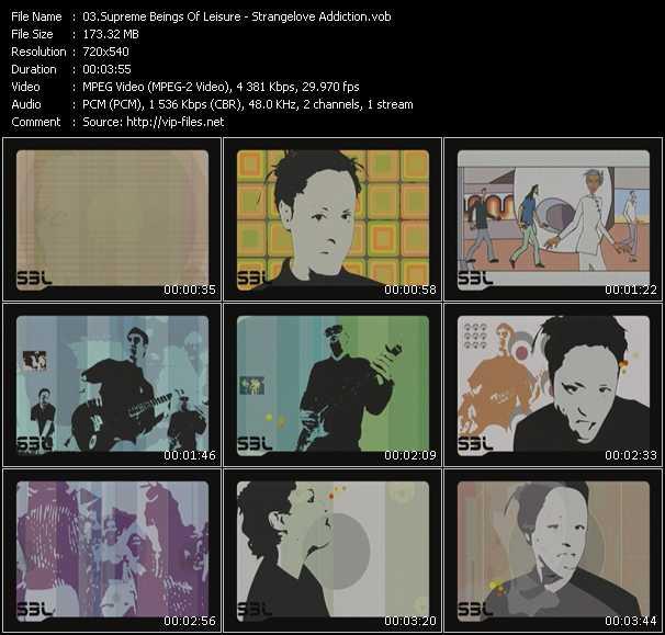 Screenshot of Music Video Supreme Beings Of Leisure - Strangelove Addiction