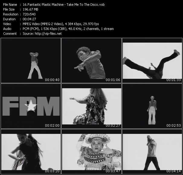 Screenshot of Music Video Fantastic Plastic Machine - Take Me To The Disco
