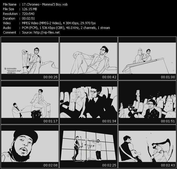 Screenshot of Music Video Chromeo - Momma'S Boy