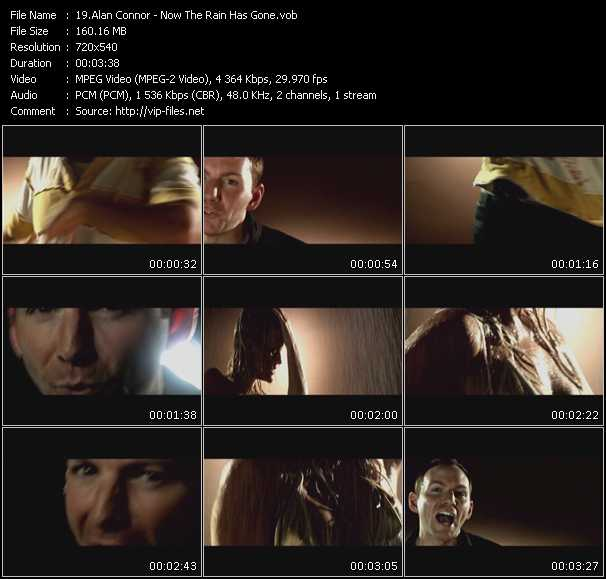 Screenshot of Music Video Alan Connor - Now The Rain Has Gone