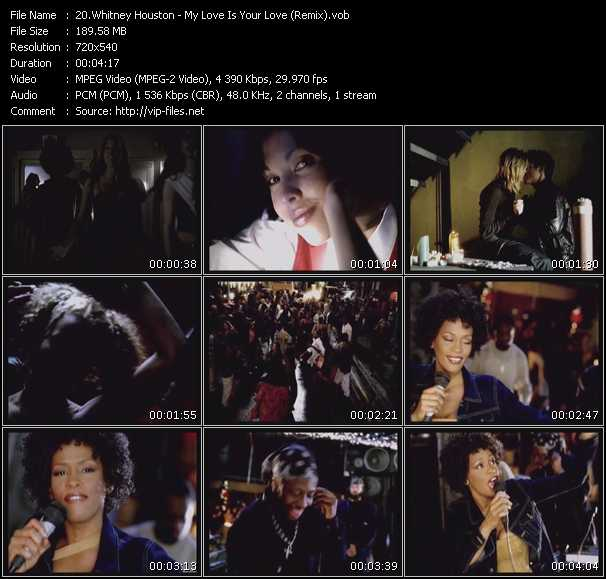 Screenshot of Music Video Whitney Houston - My Love Is Your Love (Remix)