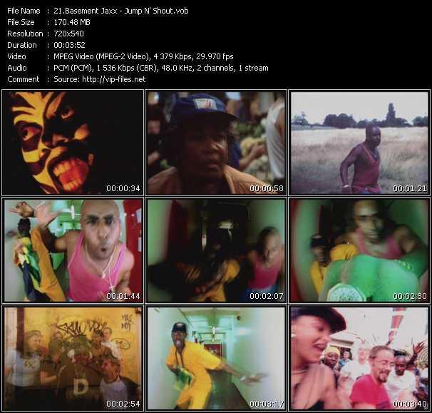 Screenshot of Music Video Basement Jaxx - Jump N' Shout