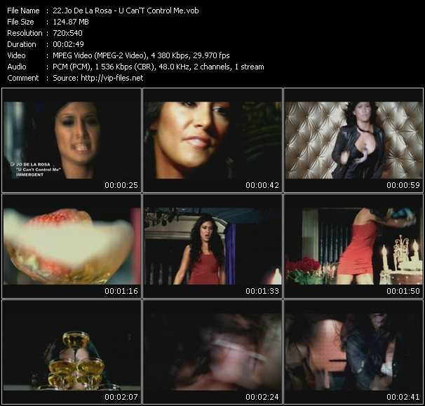 Screenshot of Music Video Jo De La Rosa - U Can'T Control Me