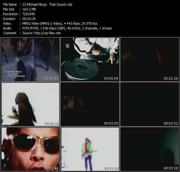 Screenshot of Music Video Michael Moog - That Sound