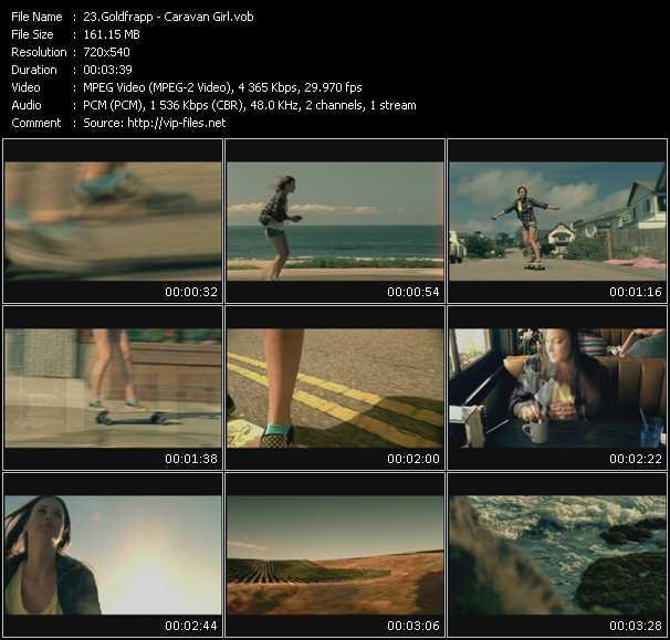 Goldfrapp video vob