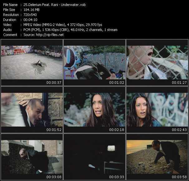 Screenshot of Music Video Delerium Feat. Rani - Underwater