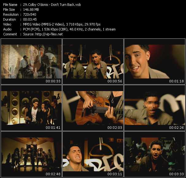 Colby O'Donis video vob
