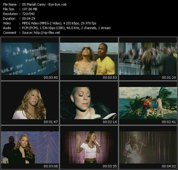 Видео mariah carey - bye bye (instrumental/karaoke with backing vocals)