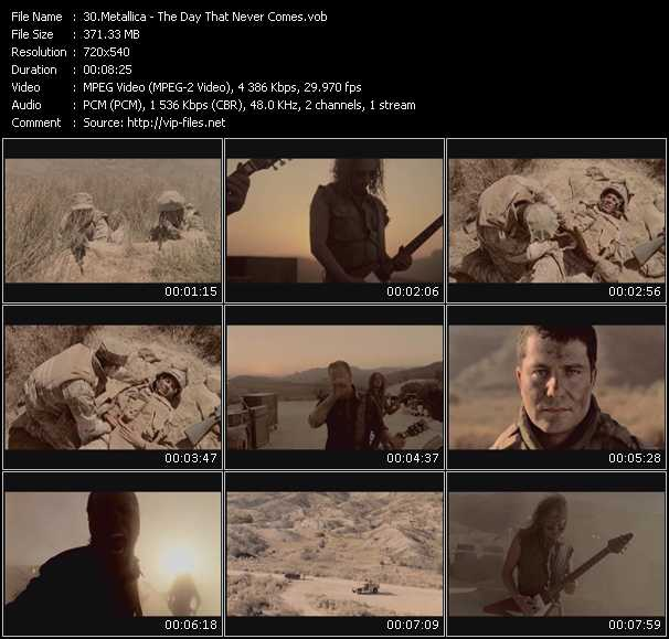 Screenshot of Music Video Metallica - The Day That Never Comes