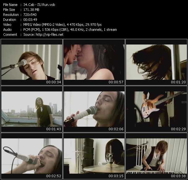 Screenshot of Music Video Cab - I'Ll Run