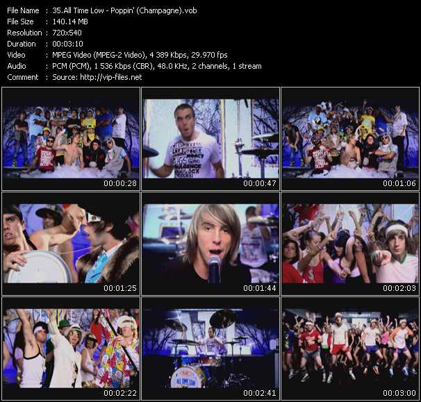 Screenshot of Music Video All Time Low - Poppin' (Champagne)