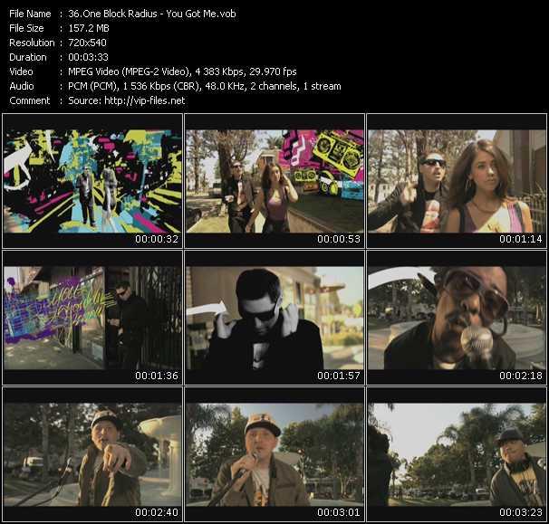 Screenshot of Music Video One Block Radius - You Got Me