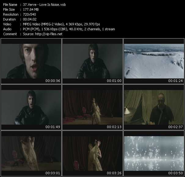 Screenshot of Music Video Verve - Love Is Noise