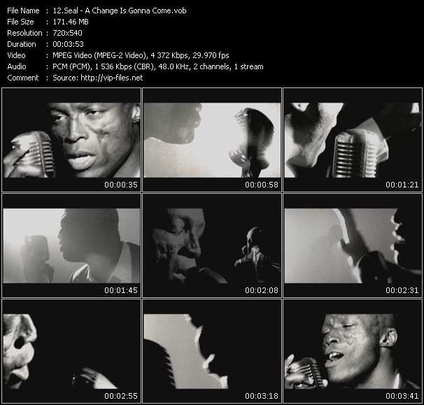 Screenshot of Music Video Seal - A Change Is Gonna Come