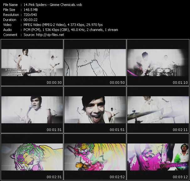 Screenshot of Music Video Pink Spiders - Gimme Chemicals