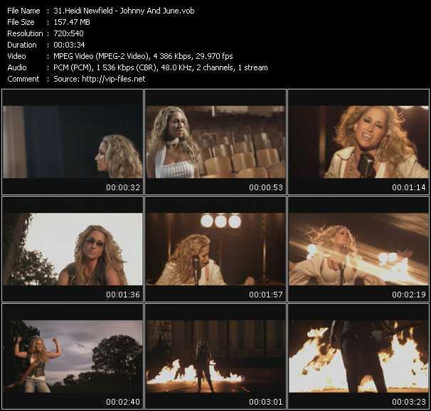 Screenshot of Music Video Heidi Newfield - Johnny And June