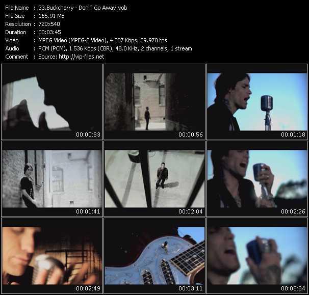 Screenshot of Music Video Buckcherry - Don'T Go Away