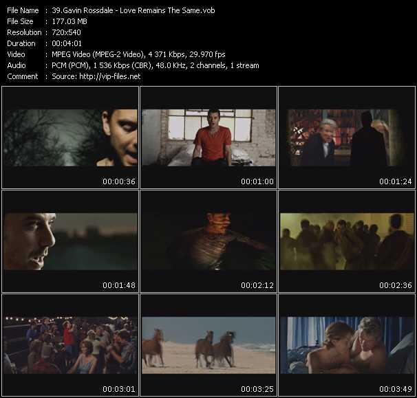 Gavin Rossdale video vob